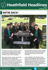 Heathfield Headlines 18 September 2020