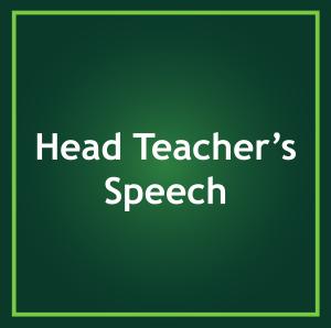 HEAD TEACHERS SPEECH